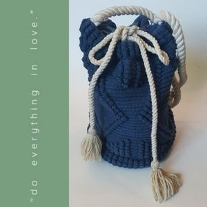 Do Everything in Love Macrame Bag with Rope